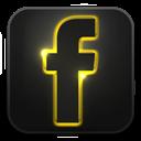 Facebook, Glow, Neon Icon