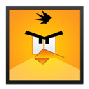 Angry, Bird, Black, Frame, Yellow Icon