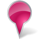 Bubble, Map, Marker, Pink Icon