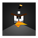 Angry, Bird, Black, Frameless Icon