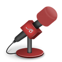 Foam, Mic, Red Icon