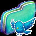 Birdie, Folder, Green Icon