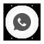 Round, Whatsapp, White Icon