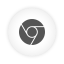 Chrome, Round, White Icon