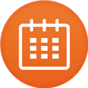 Calendar, Circle, Flat Icon