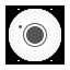 Camera, Round, White Icon