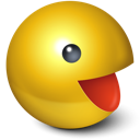 Cute, Games, Pacman, Smiley, Yellow Icon