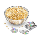 Movie, Movietime, Popcorn, Snack Icon