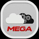 Flat, Mega, Round Icon