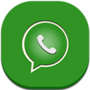 Flat, Round, Whatsapp Icon