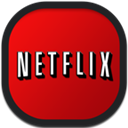 Flat, Netflix, Round Icon