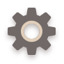 Brown, Flat, Settings Icon