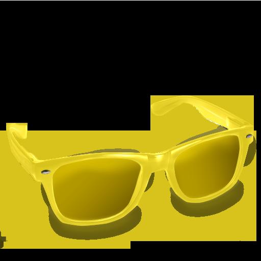 Glasses, Yellow Icon