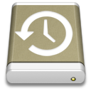 Backup, Drive, External, Lightbrown Icon
