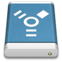 Blue, Drive, External, Firewire Icon