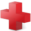 Cross, Red Icon