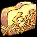 Ele, Folder, Thunder Icon