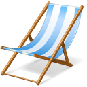 Beach, Chair Icon