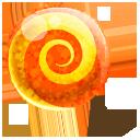 Candy, Orange Icon