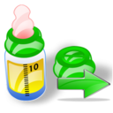 Bottle, Feeding, Next Icon