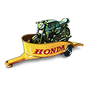 Honda, Motorcycle, Trailer, With Icon