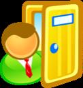 Door, Exit, In, Sign Icon
