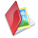 Folder, Image, Red Icon