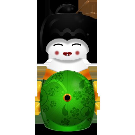 Green, Japan Icon