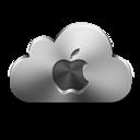 Apple, Cloud, Icon, Silver Icon