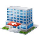 Buildings, Clinic, Emergency, Health, Hospital, Medical, Room Icon