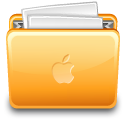 Apple, File, Folder, Full, Paper Icon