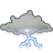Gnome, Storm, Weather Icon