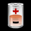 Battery, Energy, Half, Power Icon
