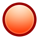 Ball, Red Icon