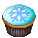 Cake, Food, Snowflake Icon