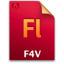 Document, F4v, File, Fl Icon