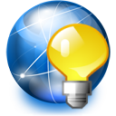 Bulb, Internet, Light, Network Icon