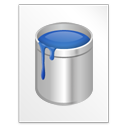 Blu, Document, File, Paint Icon