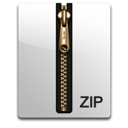 Gold, Zip Icon