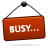 Busy, Red, Sign Icon