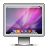 Aurora, Computer, Glossy, Monitor, Screen, Snowleopard Icon