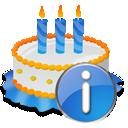 Birthday, Cake, Info Icon