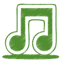 Green, Itunes, Music, Note, Tone Icon