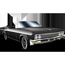 Black, Cabriolet, Car Icon