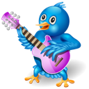 Guitar, Music, Twitter Icon