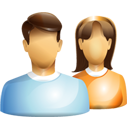 Construction, Female, Friends, Group, Male, Users Icon