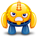 Angry, Monster, Yellow Icon