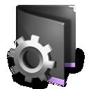 Black, Folder, Smart Icon