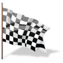 Checkered, Finish, Flag, Goal Icon
