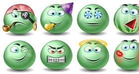 Green Emoticons